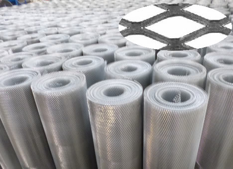Mesh Stretched to Solid Metal Sheet